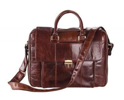 Personality Leather Briefcase-Front