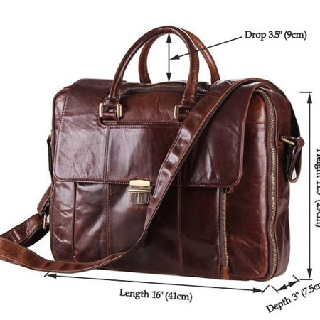 Personality Leather Briefcase-Size