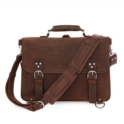 Rugged Leather Messenger Bag