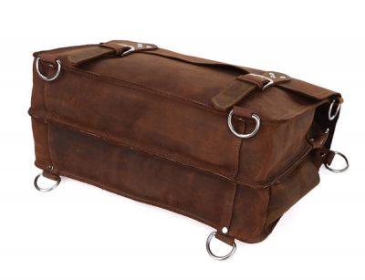 Rugged Leather Messenger Bag-Bottom