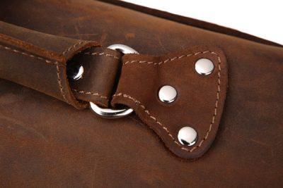 Rugged Leather Messenger Bag-Details