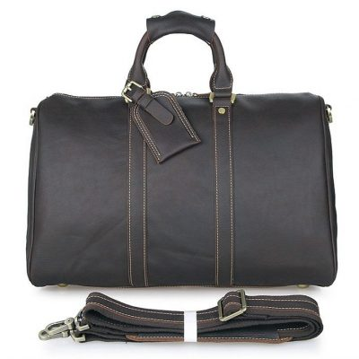 Unisex Leather Duffle Bag