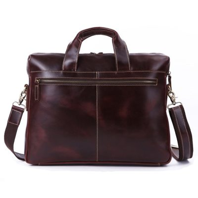 Vintage Leather Laptop Bag-Back