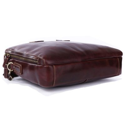 Vintage Leather Laptop Bag-Bottom