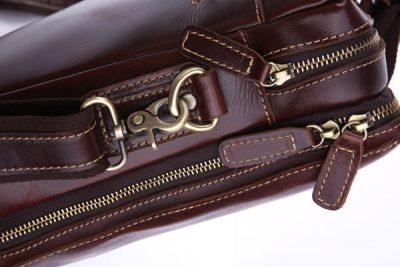 Vintage Leather Laptop Bag-Details