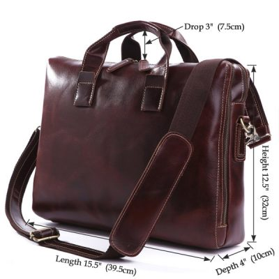 Vintage Leather Laptop Bag-Size