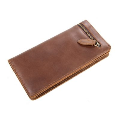 Vintage Style Leather Clutch
