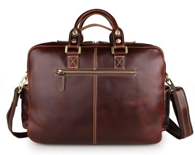Casual leather briefcases messenger bag-back