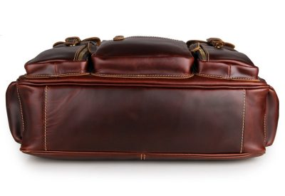 Casual leather briefcases messenger bag-bottom