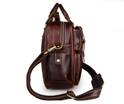 casual leather briefcases messenger bag-side
