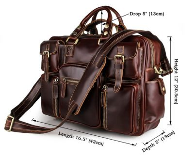 casual leather briefcases messenger bag-size