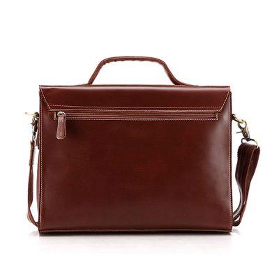excellent leather messenger bag-back
