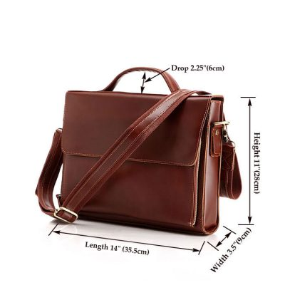 excellent leather messenger bag-size