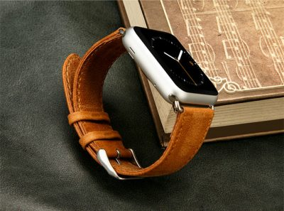 VANGOSEDUN Leather Apple Watch Band-2