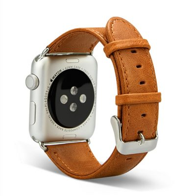 VANGOSEDUN Leather Apple Watch Band-Back