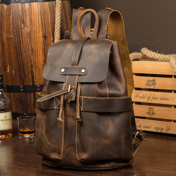 Brucegao Men's Leather Business Package