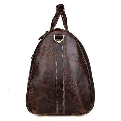 Classic Leather Duffle Bag-Side