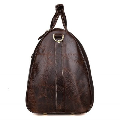 Classic Leather Duffle Bag-Side