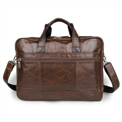 Fashion Leather Laptop Bag-Back