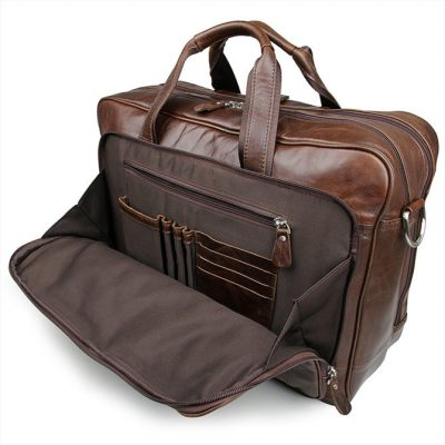 Fashion Leather Laptop Bag-Front