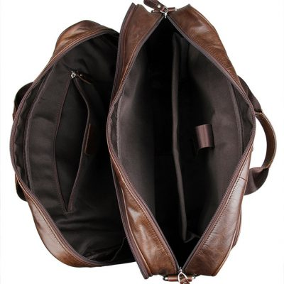 Fashion Leather Laptop Bag-Inside