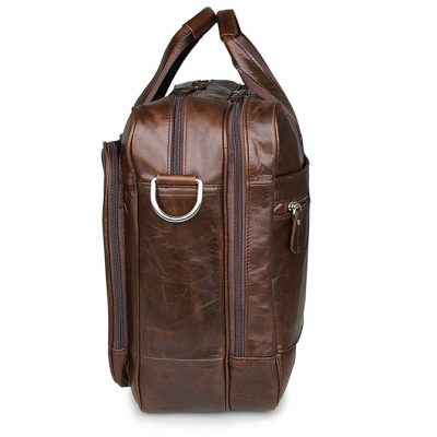 Fashion Leather Laptop Bag-Side