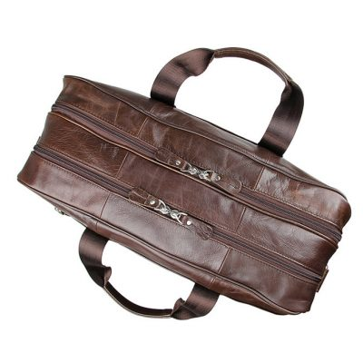 Fashion Leather Laptop Bag-Top