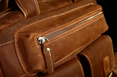 Fashion outdoor Leather Backpack-Details