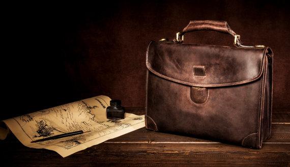 Genuine Handmade Leather Mens Laptop Bag Bussiness Bag