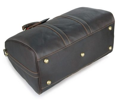 Leather Duffle Bag Weekend Bag-Bottom