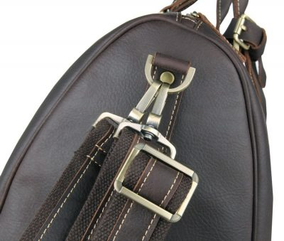 Leather Duffle Bag Weekend Bag-Detail