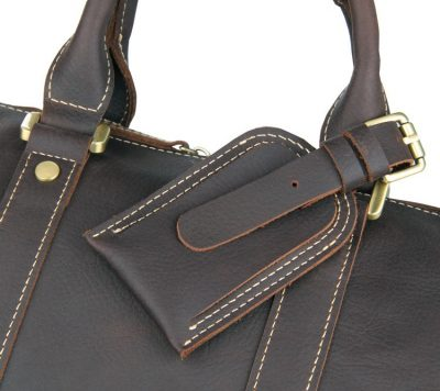 Leather Duffle Bag Weekend Bag-Details