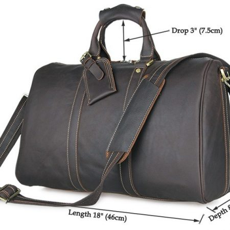 Leather Duffle Bag Weekend Bag-Size