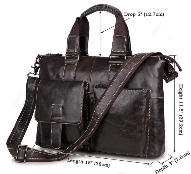 379cc8707c14 Men and Women s Leather Laptop Messenger Bag   Tote Bags