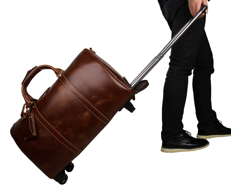 Noble Leather Trolley Travel Bags