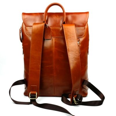 Stylish Leather Backpack-Back