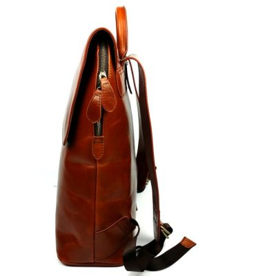 Stylish Leather Backpack-Side