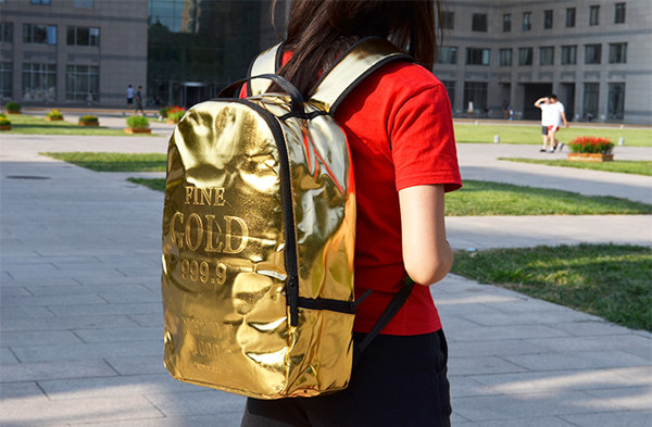 Tyrant gold backpack