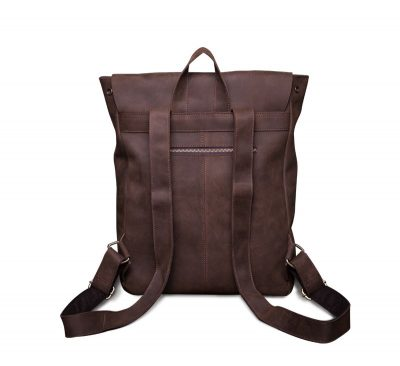 Vintage Genuine Leather Backpack-Back