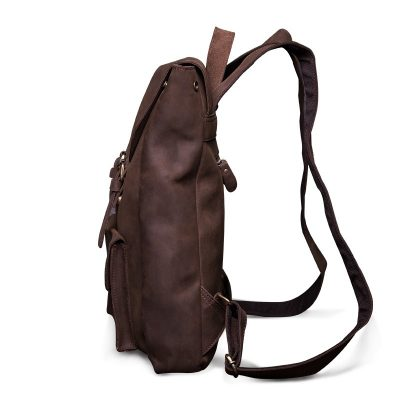Vintage Genuine Leather Backpack-Side