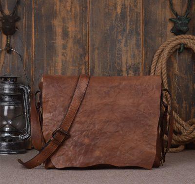 men's necessary leather messenger bag