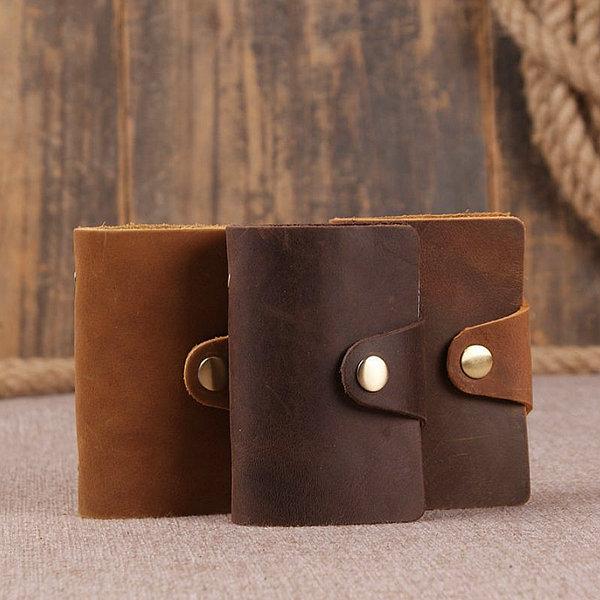 short leather wallet