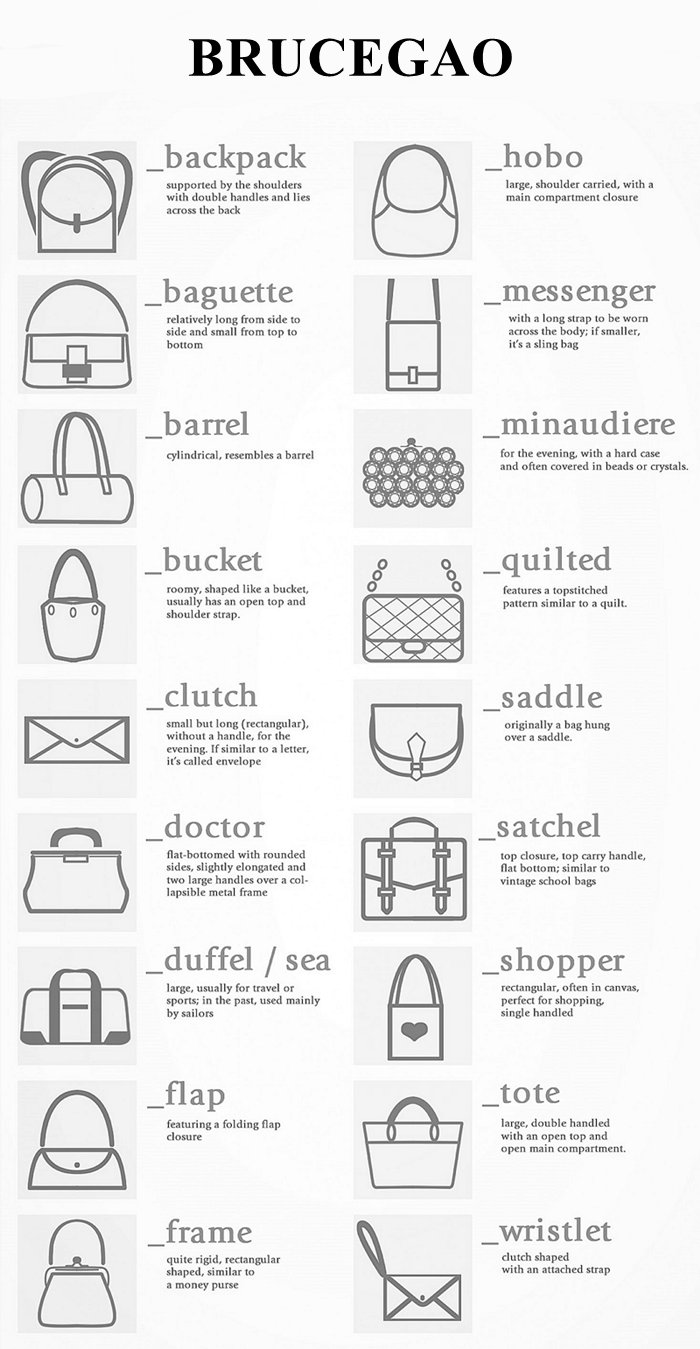 styles of womens leather bags