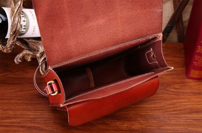 2017 New Small Leather Satchel-Inside