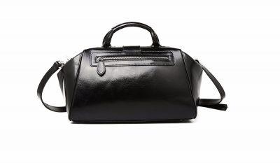 Black Designer Genuine Leather Handbag-Back