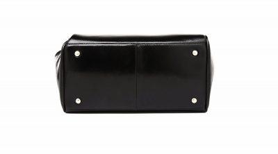 Black Designer Genuine Leather Handbag-Bottom