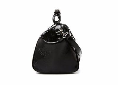 Black Designer Genuine Leather Handbag-Side