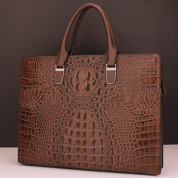 Brucegao men's classic crocodile leather bag