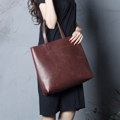 Bucket leather handmade bag