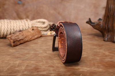 Casual Handmade Leather Belt-Back